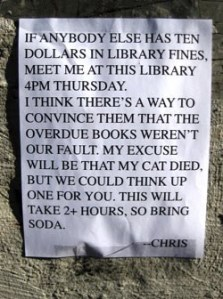 Chris library fines