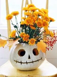 Smiling pumpkin vase