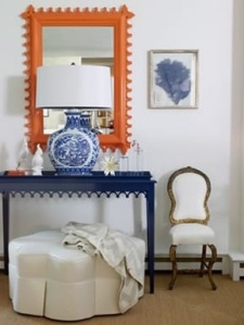 orange and blue entry