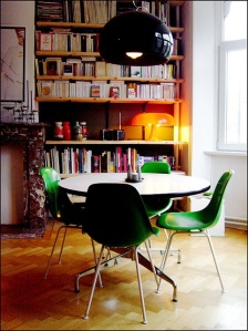 Green dining eames