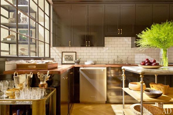 berkus kitchen mix of brass and stainless
