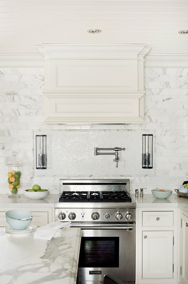 Gilded Interiors white marble kitchen