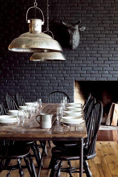 Dark Dining Room cotemaisonfr