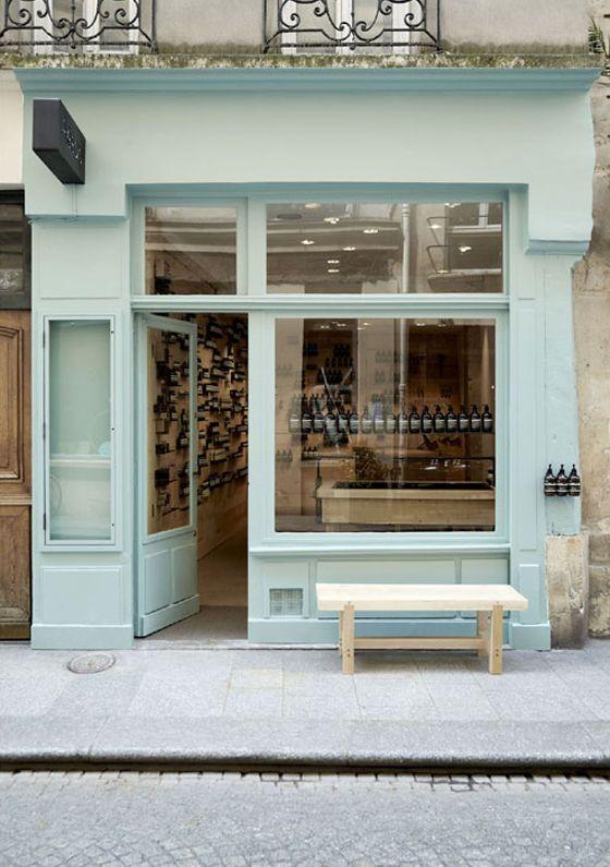Pale shop front