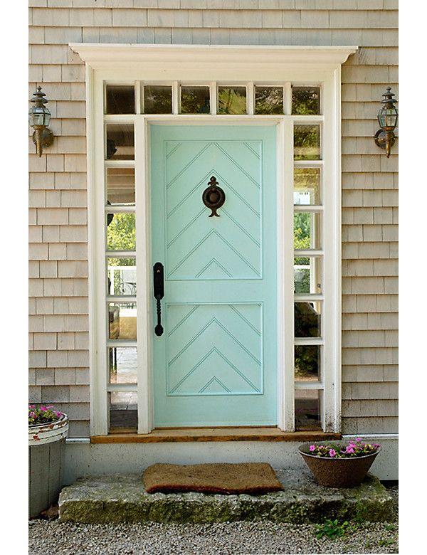pastel blue door