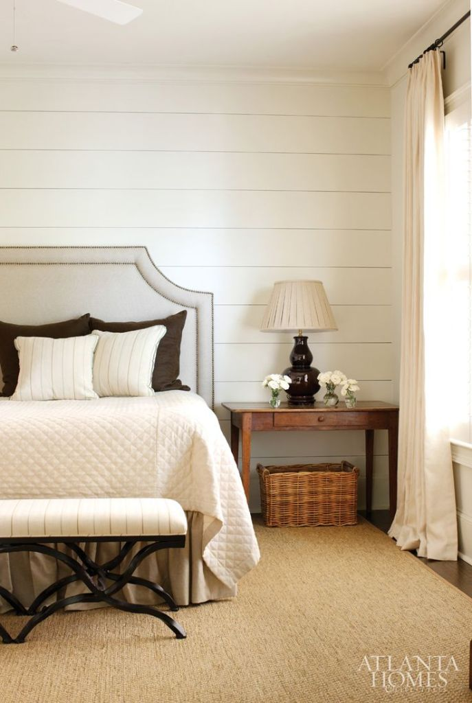 I don't love planked walls in a bedroom because they tend to have an outdoor connotation to me. However, they clearly can look fabulous - especially on a headboard wall.
