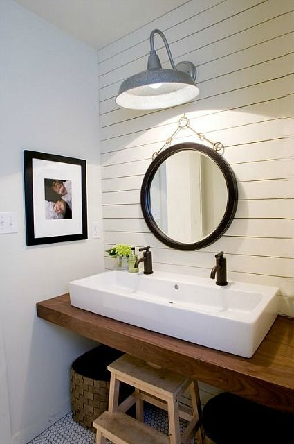 smaller planks bathroom