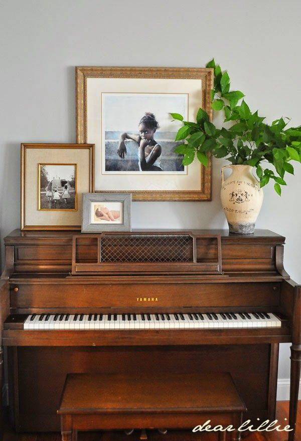 The Space Above Styling Above An Upright Piano The