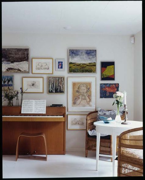Gilded Interiors piano art gallery