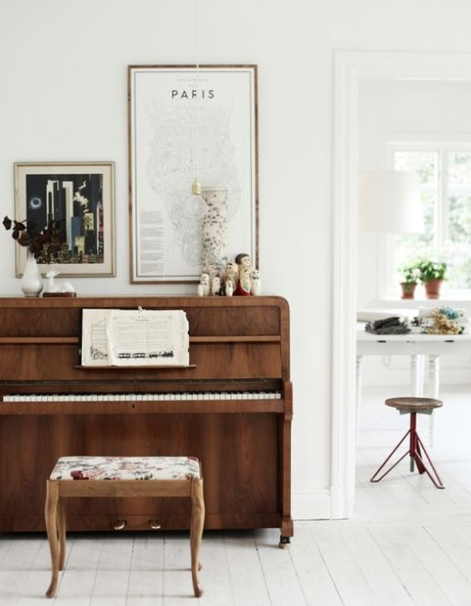 The Space Above Styling above an upright piano \u2013 The