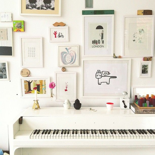 The Space Above: Styling above an upright piano – The Colorado Nest