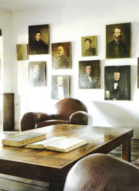 Gallery wall unframed art