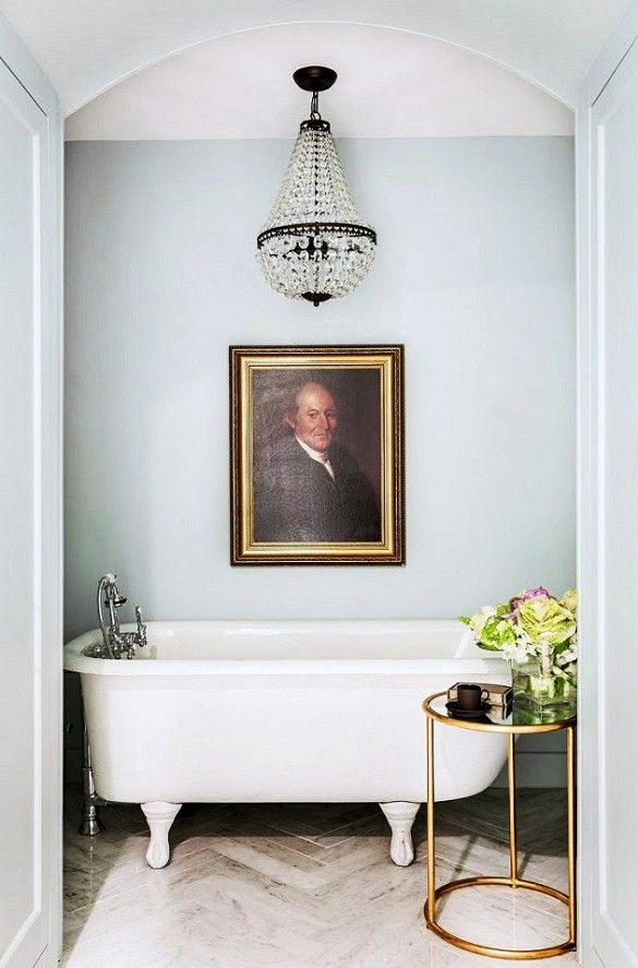 art above a tub