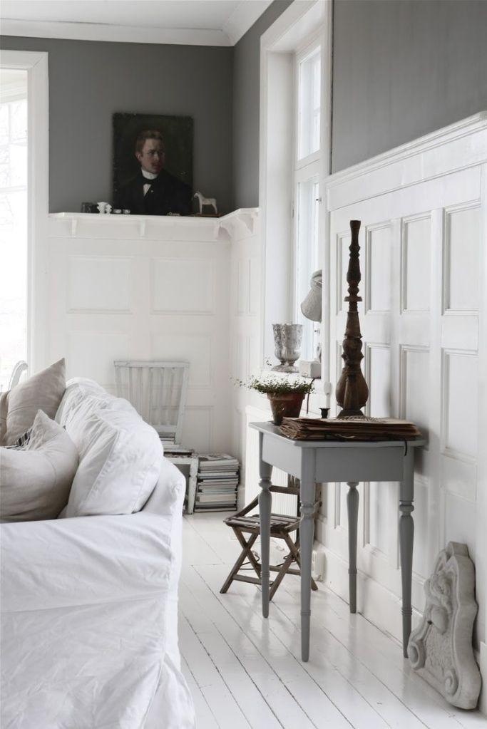Unframed portrait white interior