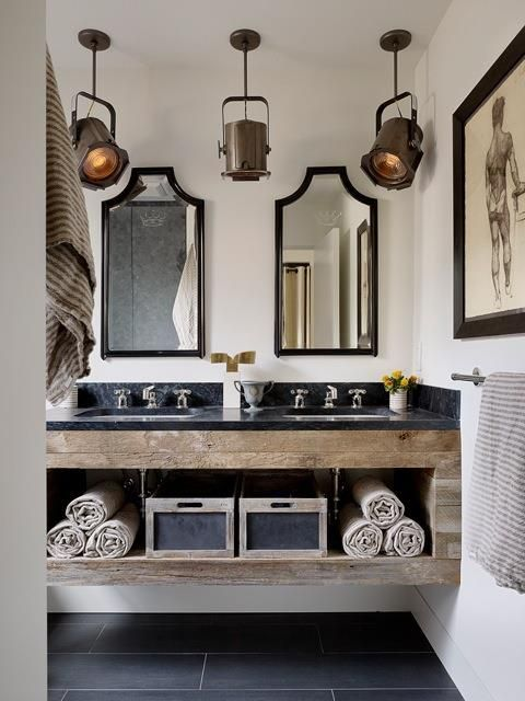 bathroom industrial rustic