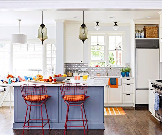 orange accents kitchen
