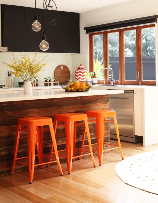orange barstools
