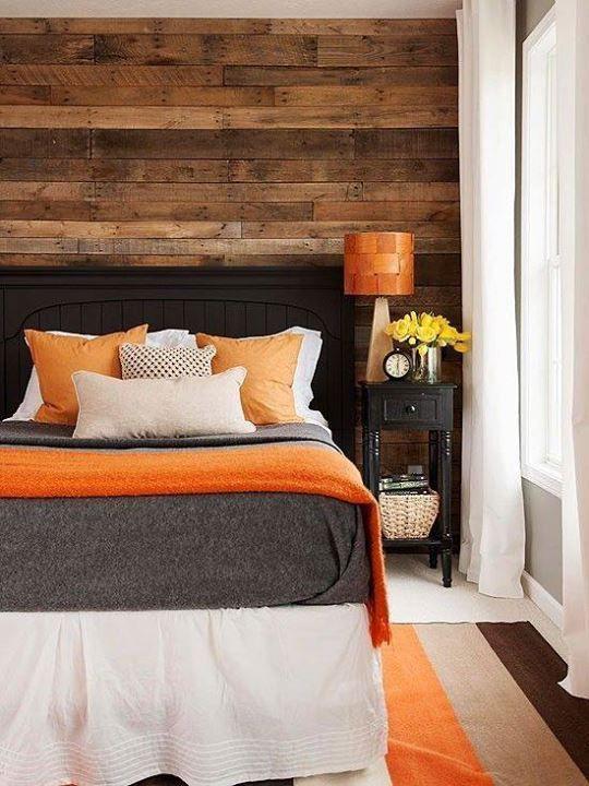 orange in a bedroom