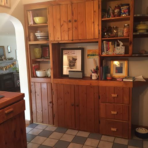 knotty pine cabinets