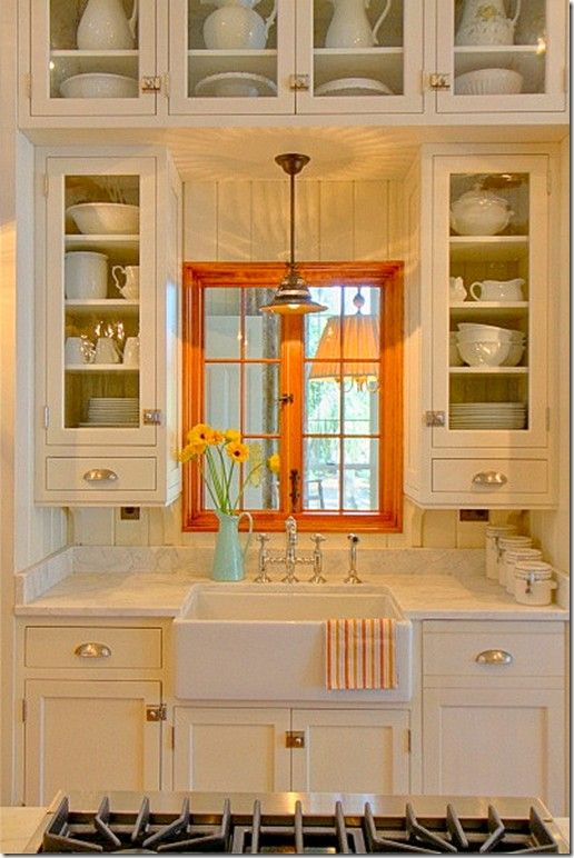 orange accent in kitchen