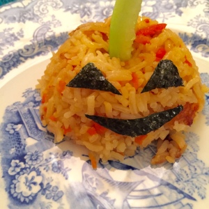 pumpkin rice ball