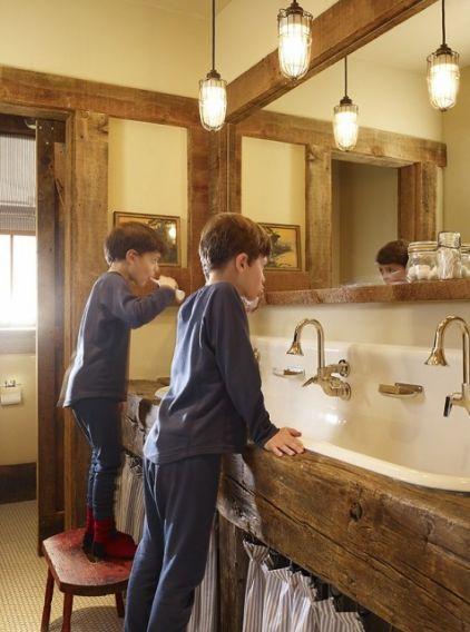 Rustic bathroom industrial