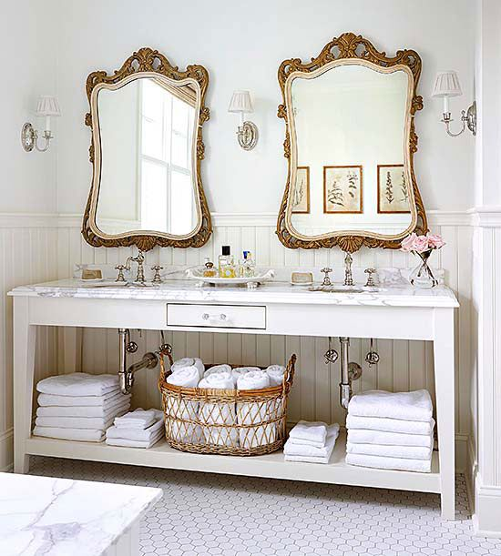 matching antique mirrors