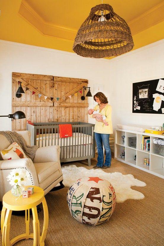 mustard ceiling nursery