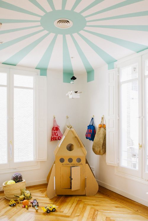 sunburst ceiling kids rooms