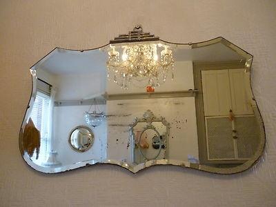 vintage 1920's mirror
