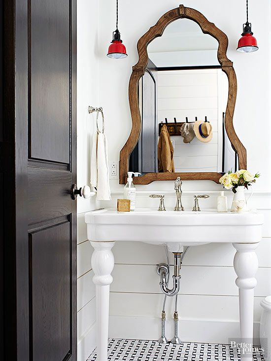 wood framed dresser mirror