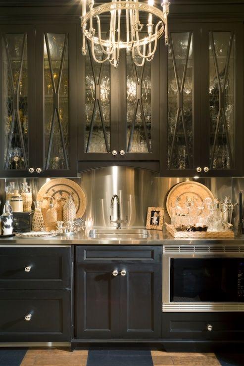 dark and glamorous kitchen