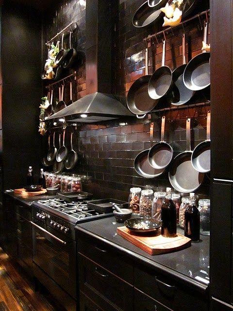 dark and moody kitchen