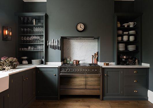 gray victorian kitchen
