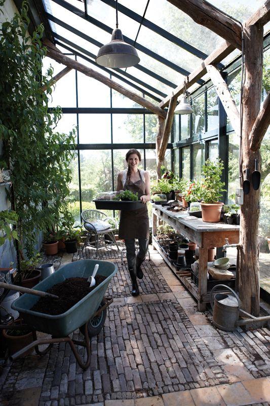 potting shed brick floor