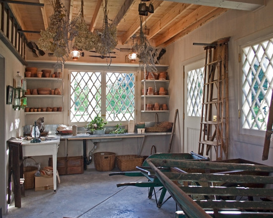 dried herbs potting shed