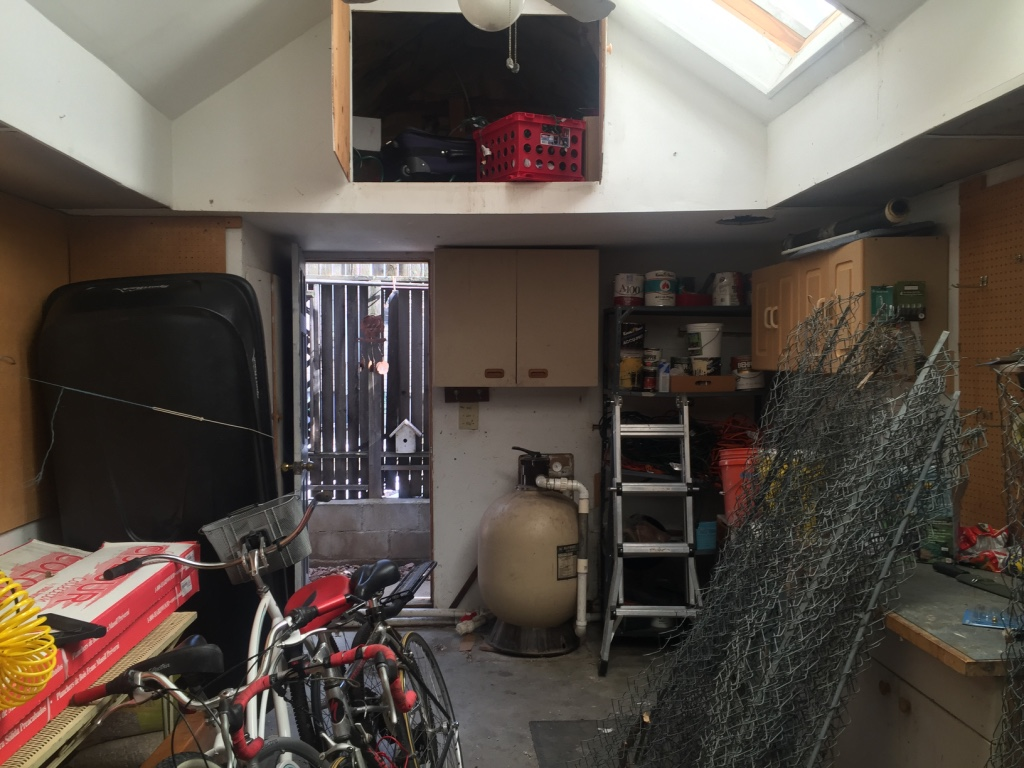 garage conversion before photo