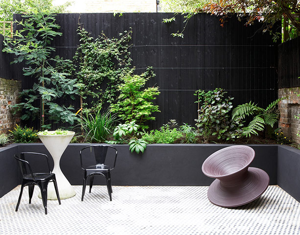 black patio