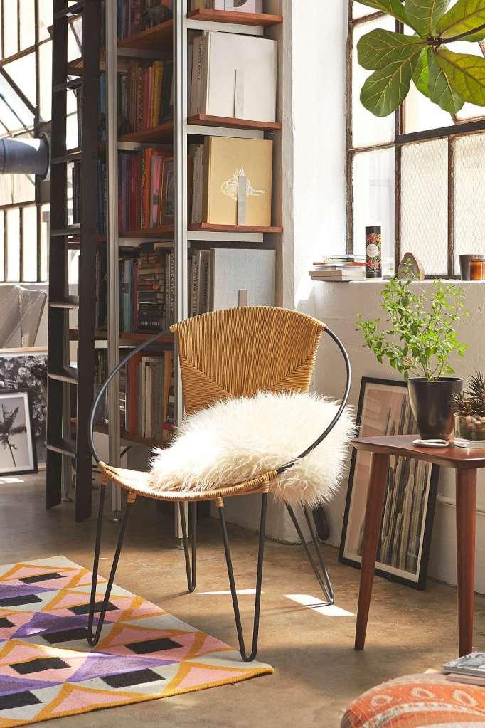 hoop wicker chair