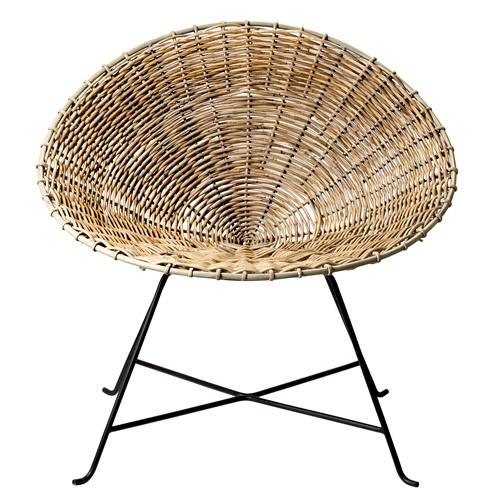 rattan hoop chair natural