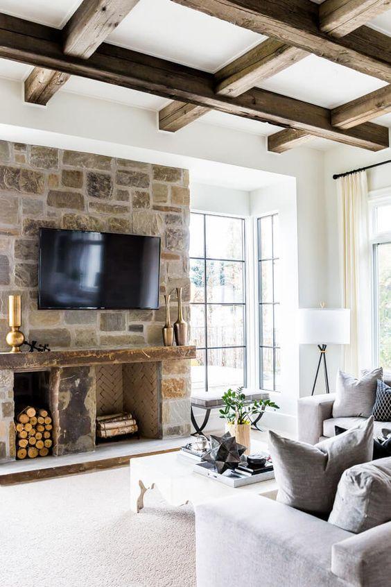 stone fireplace colorado