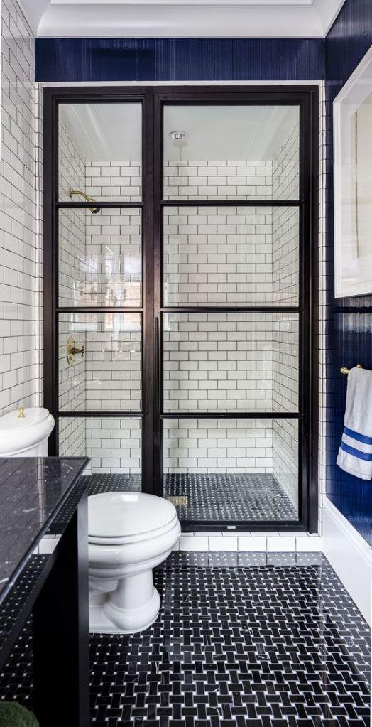 black and white bathroom san francisco