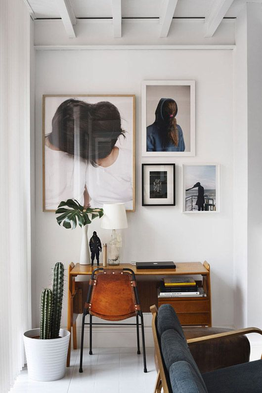 Eclectic Desk with art