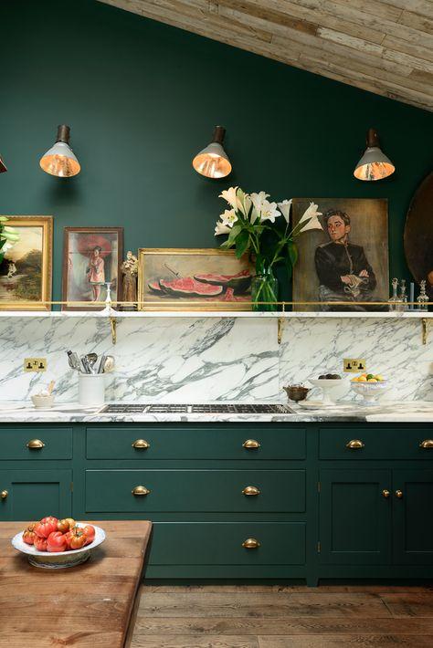 Green kitchen cabinets denver