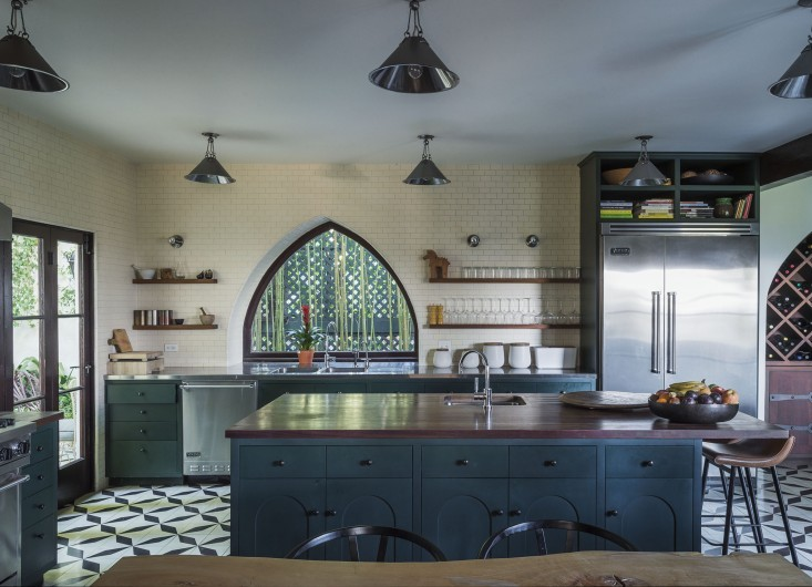 dark-green-kitchen-cabinets
