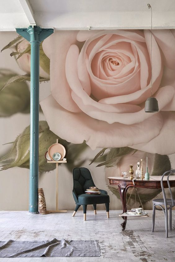 large-floral-mural