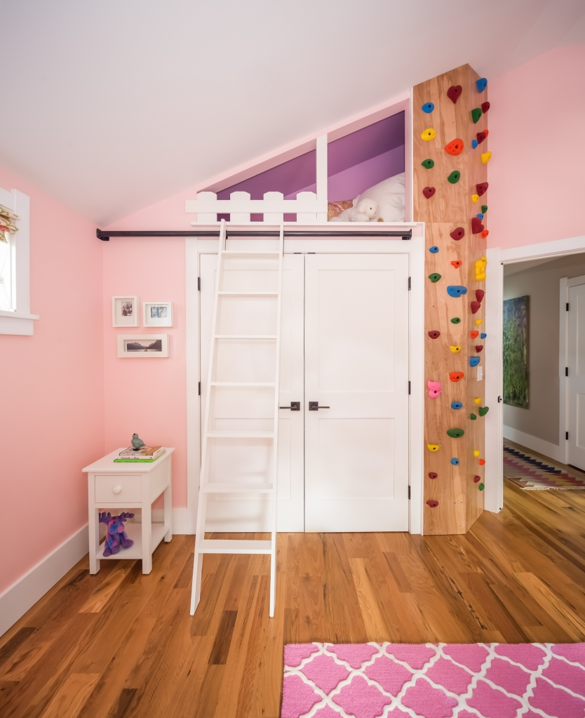 climbing wall childrens room