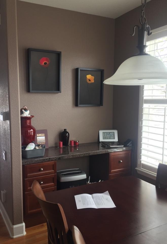 Before Desk Area Kitchen