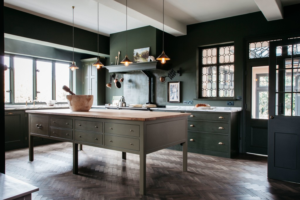 green-cabinetry