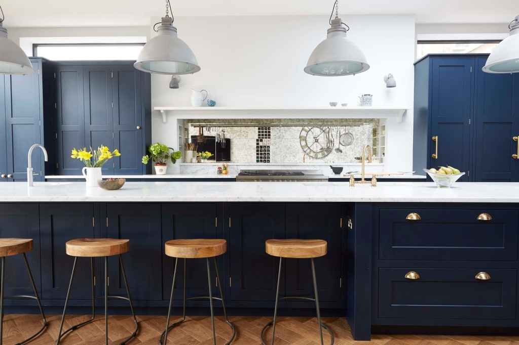 fascinating blue kitchen cabinets | Beyond the Pale: Painted Kitchen Cabinets Now and Then ...